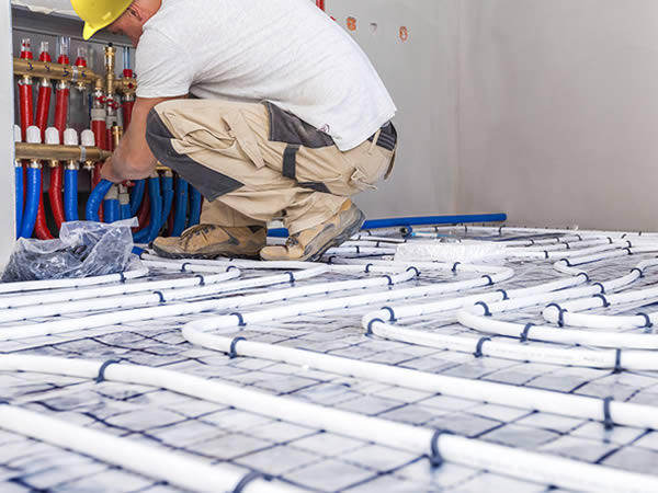 Installation Fußbodenheizung